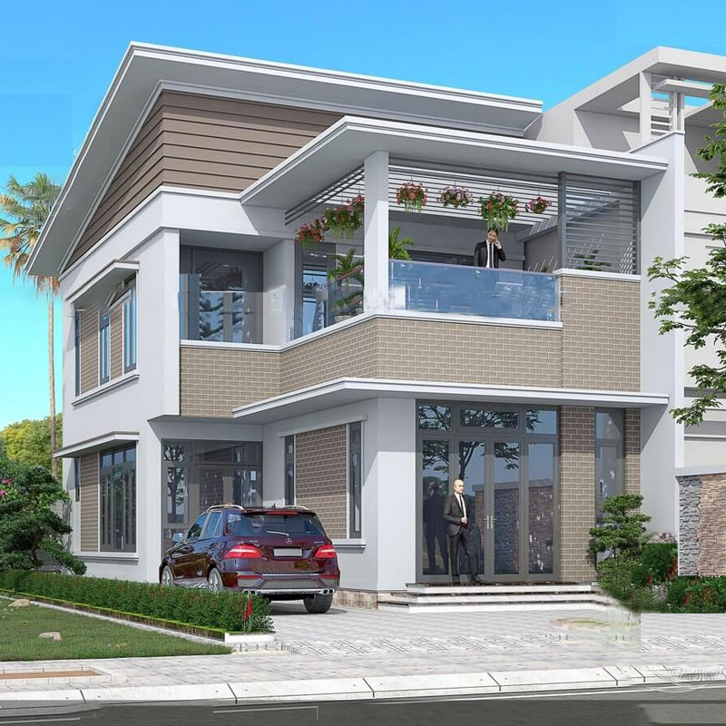 Sân thượng nhỏ cho nhà phố.