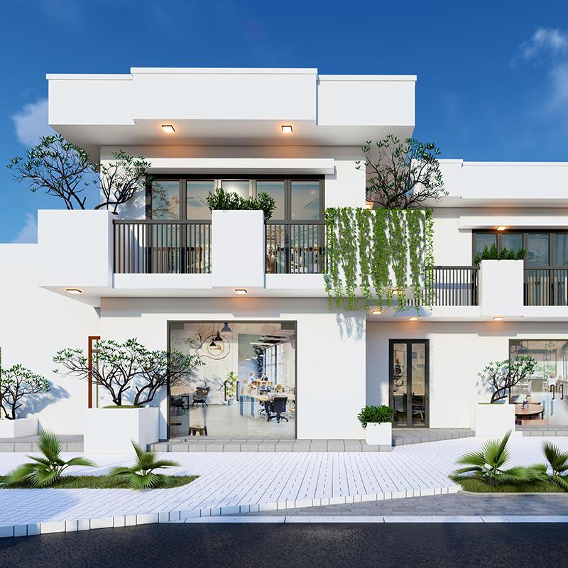 Thiết kế xây dựng nhà phố 2 tầng trọn gói