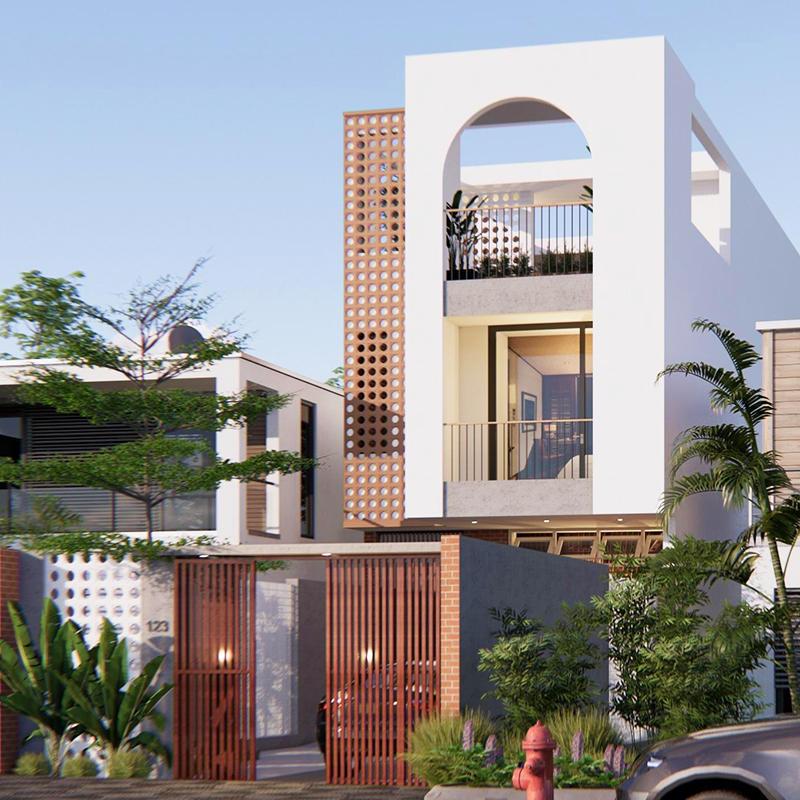 Nhà phố 3 tầng tropical