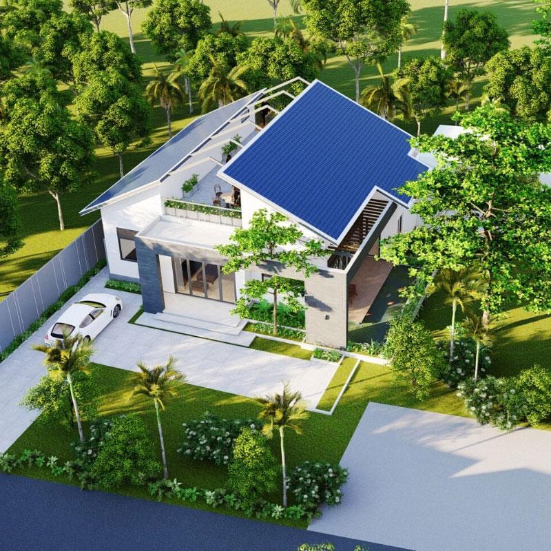 Biệt thự cấp 4 nhà vườn 4 phòng ngủ