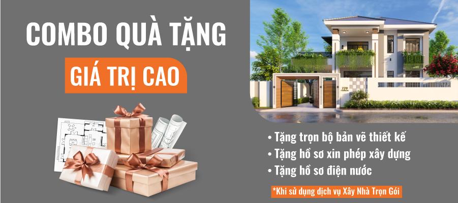Combo quà tặng xây nhà trọn gói