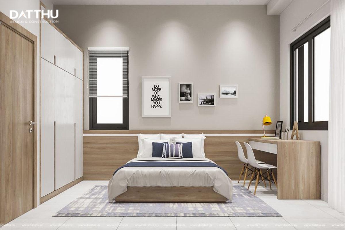 Phòng ngủ với gam màu sáng