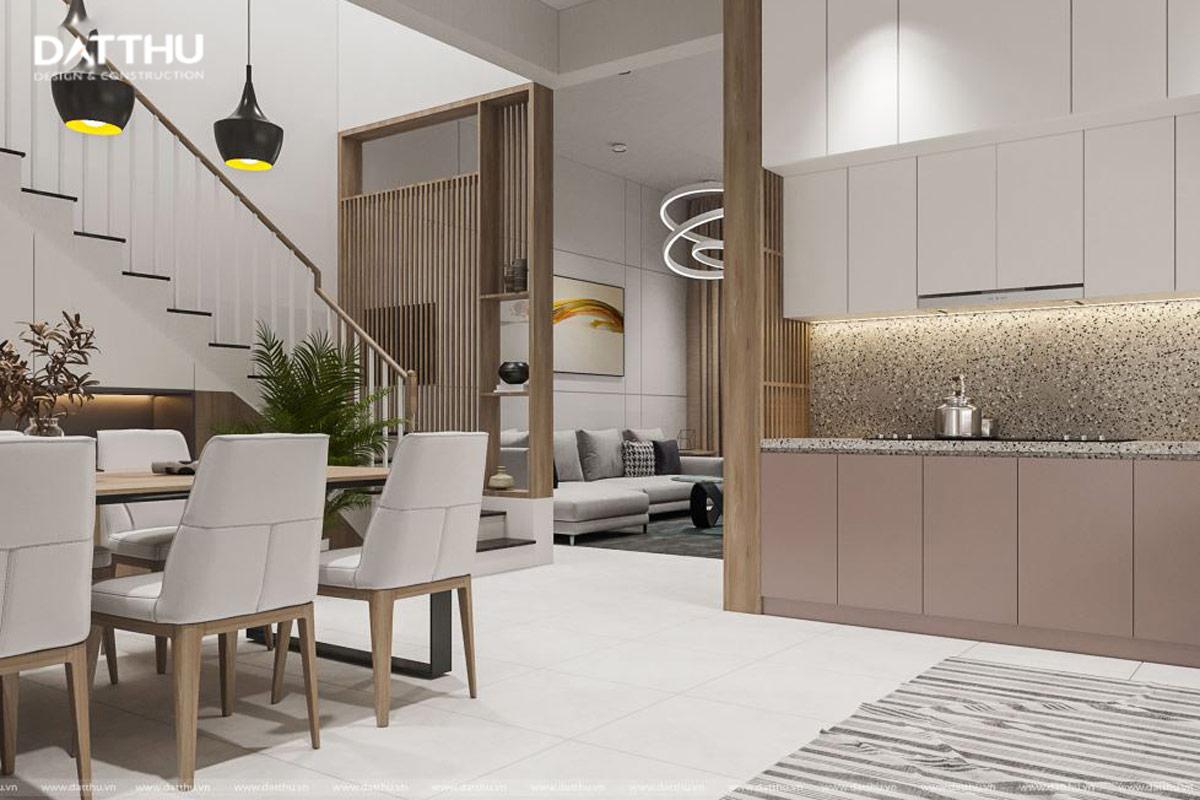 Phòng khách nối liền phòng bếp