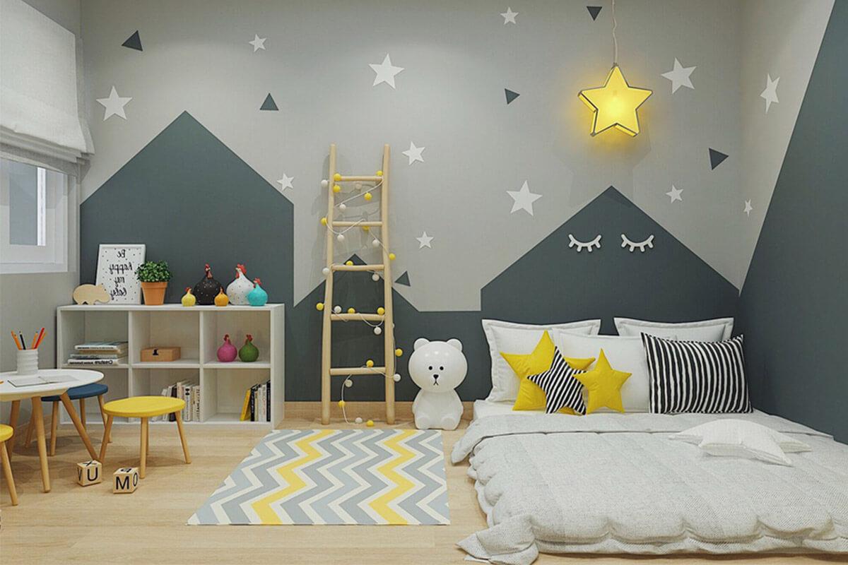 Thiết kế phòng ngủ nệm đặt lên sàn an toàn