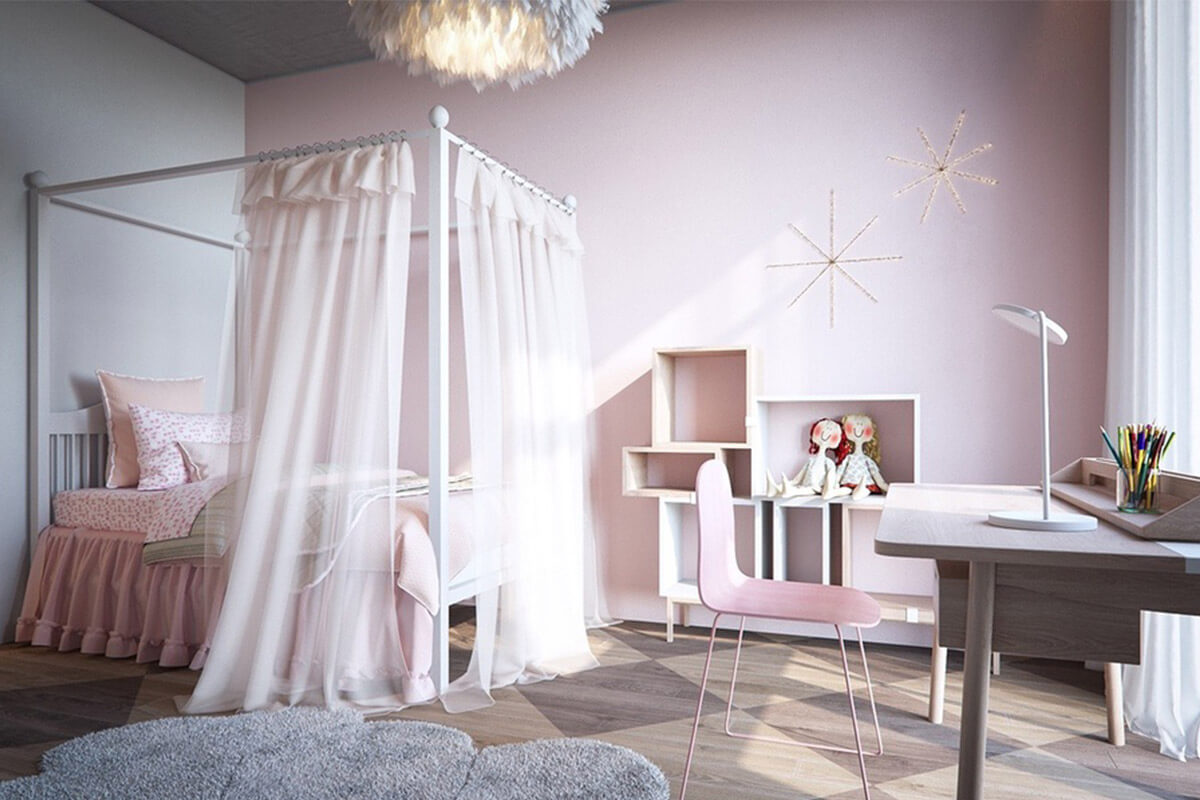 Phòng ngủ bé gái phong cách công chúa