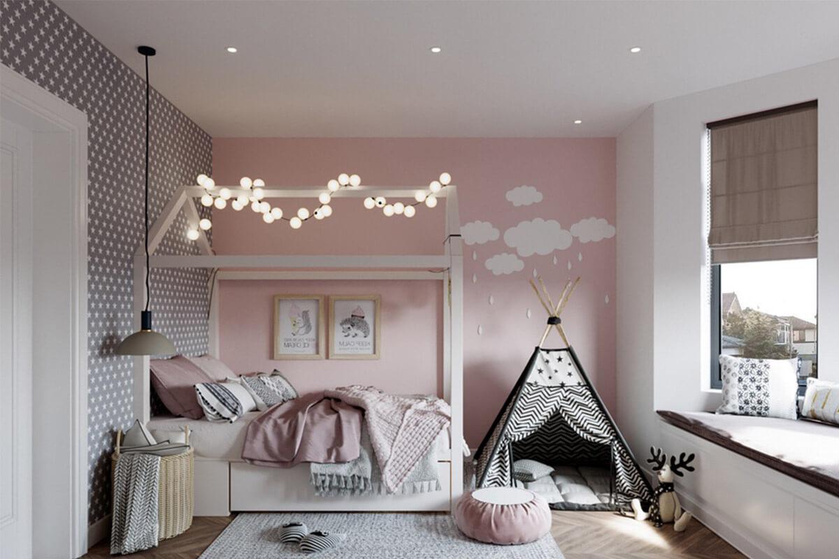 Phòng ngủ thiết kế phong cách dã ngoại