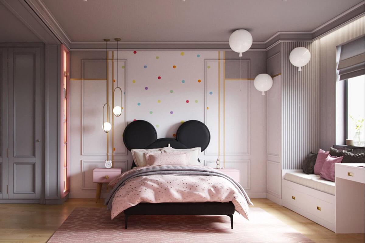 Phòng ngủ con gái chủ đề Mickey