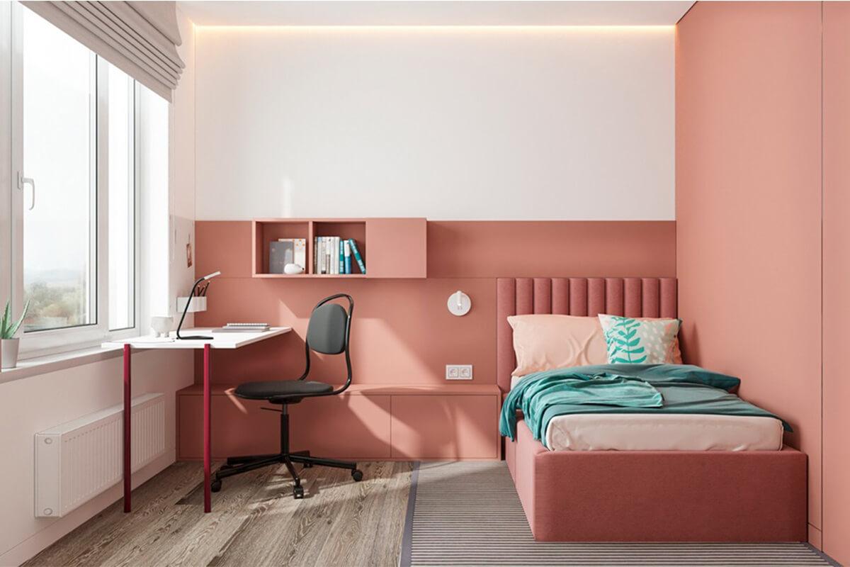 Nệm thấp đảm bảo an toàn cho phòng ngủ của trẻ