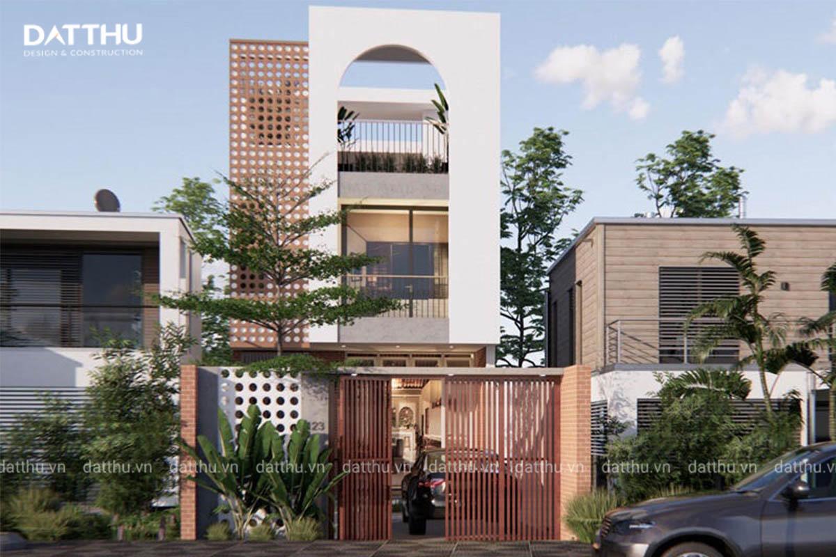 Mẫu thiết kế nhà 3 tầng 5x16m