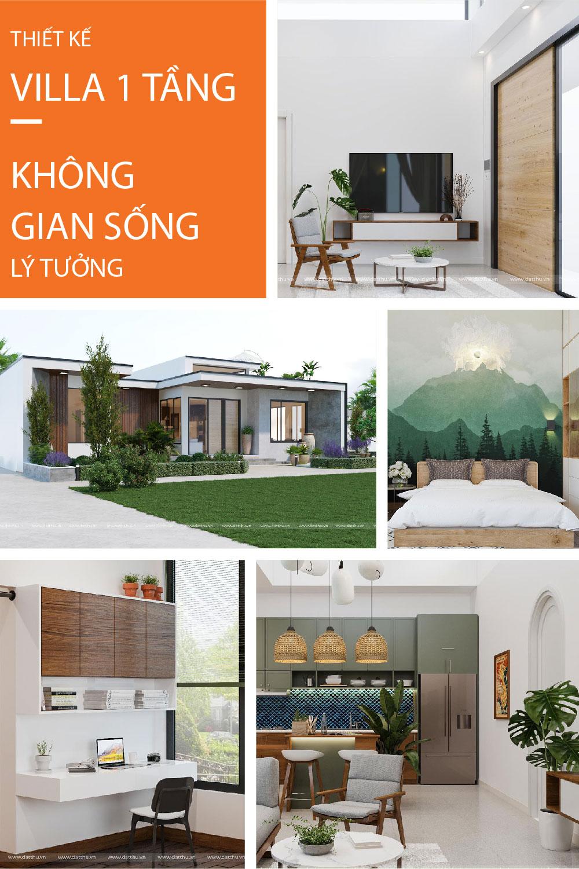 Công trình villa 1 tầng thuộc sở hữu của anh Khánh