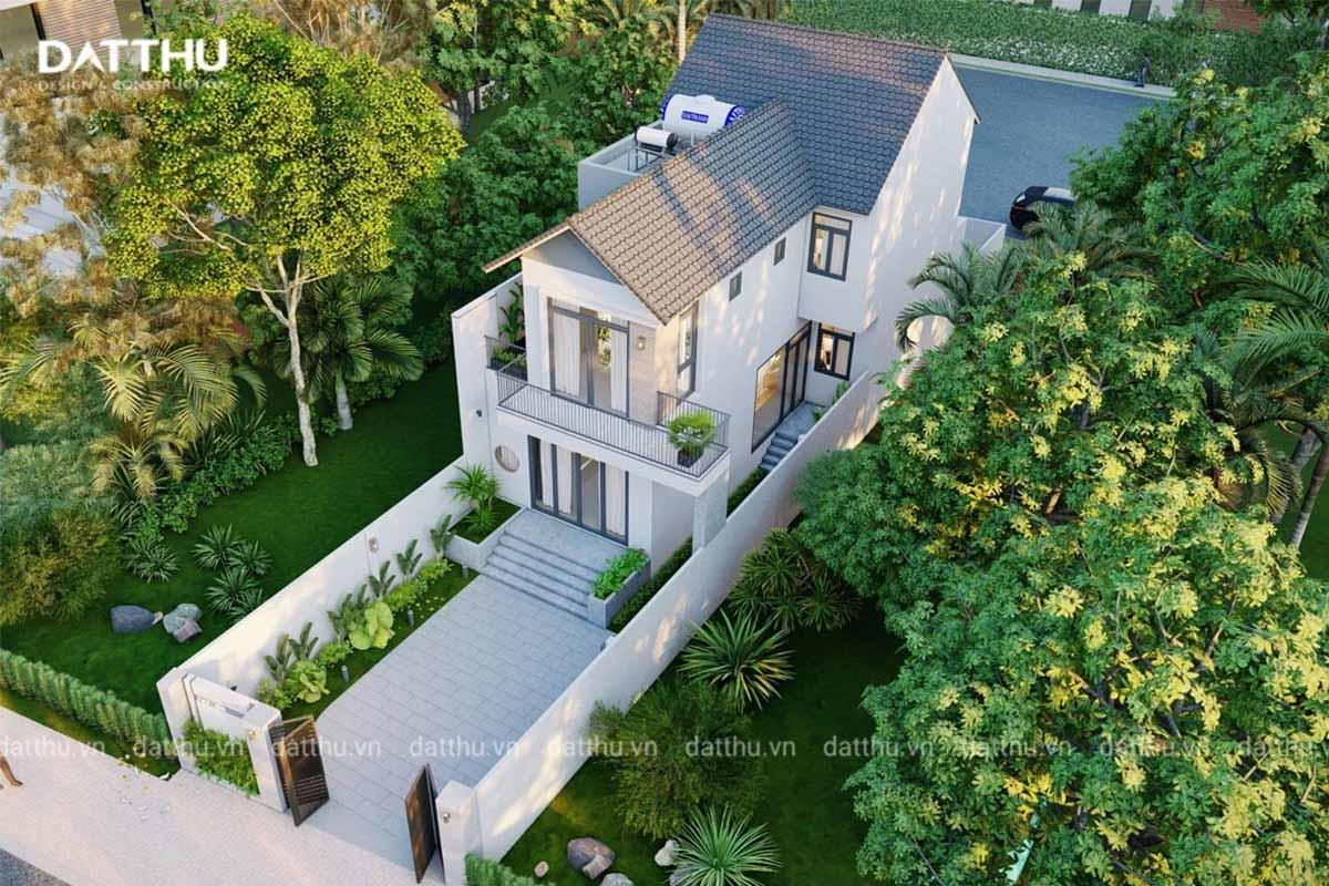 Ngôi nhà với góc từ trên cao xuống