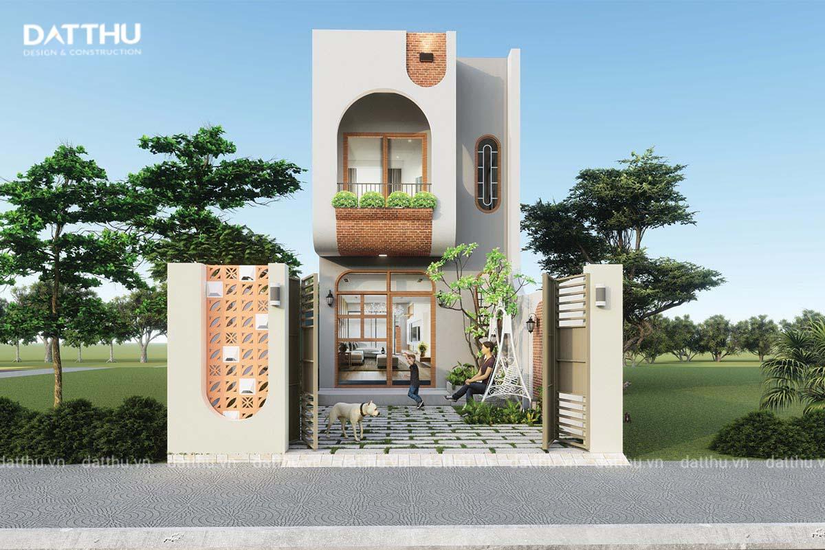 Thiết kế nhà 2 tầng 3 phòng ngủ 60m2 tại Thủ Dầu Một - Bình Dương