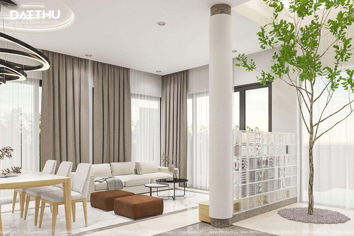 Một góc phòng khách villa