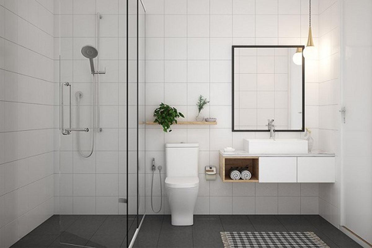 Nội thất WC tối giản